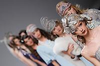 BARCELONA, ESPANHA, 10 DE MAIO 2012 - BARCELONA BRIDAL WEEK  - MADILDE CANO - Modelo durante desfile da grife Matilde Cano no terceiro dia do Barcelona Bridal Week, o maior evento de moda nupcial da Europa e um dos maiores do mundo, em Barcelona, nesta quinta-feira, 10. FOTO: VANESSA CARVALHO - BRAZIL PHOTO PRESS.