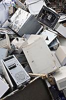 Scrap Fridge and Computers at Breakers Yard UK..©shoutpictures.com..john@shoutpictures.com