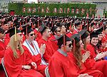 (Boston Ma 051814) Graduates enjoying their moment during the Boston University Graduation, Sunday, May 18, 2014, in Boston. (Jim Michaud Photo) For Monday