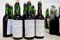 Sample wine from Chateau Fontcaille Bellevue for laboratory testing in the Bordeaux region of France