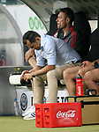 12.08.2018, Commerzbank - Arena, Frankfurt, GER, Supercup, Eintracht Frankfurt vs FC Bayern M&uuml;nchen , <br />DFL REGULATIONS PROHIBIT ANY USE OF PHOTOGRAPHS AS IMAGE SEQUENCES AND/OR QUASI-VIDEO.<br />im Bild<br />Sportdirektor Hasan Salihamidzic (M&uuml;nchen), Co-Trainer Robert Kovac (M&uuml;nchen)<br /> <br /> Foto &copy; nordphoto / Bratic