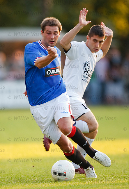 Kevin Thomson steps away from Christian Kocaman