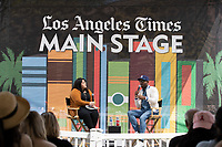 "Karma Brown, Author of ""My Story of Embracing Purpose, Healing, and Hope, "" Interviewed by Yvonne Villarreal at the Los Angeles Times Festival of Books held at the USC Campus in Los Angeles, California on Sunday, April 14, 2019"