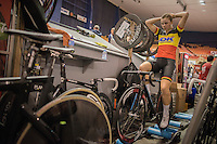 Lotte Kopecky (BEL) warming up<br /> <br /> 2016 Gent 6<br /> day 5