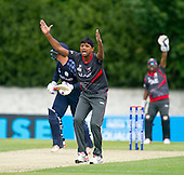 ICC World T20 Qualifier - GROUP B MATCH - SCOTLAND V UAE at Grange CC, Edinburgh - UAE appeal for an lbw — credit @ICC/Donald MacLeod - 09.07.15 - 07702 319 738 -clanmacleod@btinternet.com - www.donald-macleod.com