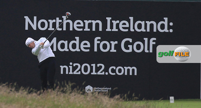 Richie Ramsey (SCO) on the 18th during round 3 of the Irish Open at Royal Portrush GC,Portrush,County Antrim,Ireland. 30/6/12.Picture Fran Caffrey www.golffile.ie