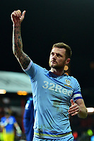 Leeds United's Liam Cooper acknowledges the fans at the end of the match<br /> <br /> Photographer Richard Martin-Roberts /CameraSport<br /> <br /> The EFL Sky Bet Championship - Brentford v Leeds United - Tuesday 11th February 2020 - Griffin Park - Brentford<br /> <br /> World Copyright © 2020 CameraSport. All rights reserved. 43 Linden Ave. Countesthorpe. Leicester. England. LE8 5PG - Tel: +44 (0) 116 277 4147 - admin@camerasport.com - www.camerasport.com