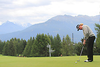 Miguel Angel Jiminez (ESP) on the 11th during the 1st day of the Omega European Masters, Crans-Sur-Sierre, Crans Montana, Switzerland..Picture: Golffile/Fran Caffrey..