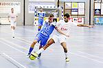 2015-10-30/ Voetbal / Seizoen 2015-2016/ Malle Beerse- Futsal Topsport Antwerpen / foto mpics.be / Nordin Amajoud ( Malle) met de fout op Abdelhak El Ghaadaoui