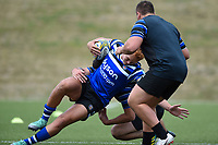 Miles Reid of Bath Rugby in action. Bath Rugby pre-season training on August 8, 2018 at Farleigh House in Bath, England. Photo by: Patrick Khachfe / Onside Images