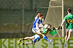 Kerins O'Rahilly's David Moran and John Mitchels Ciaran Deane in action at Austin Stack park, Tralee on Saturday.