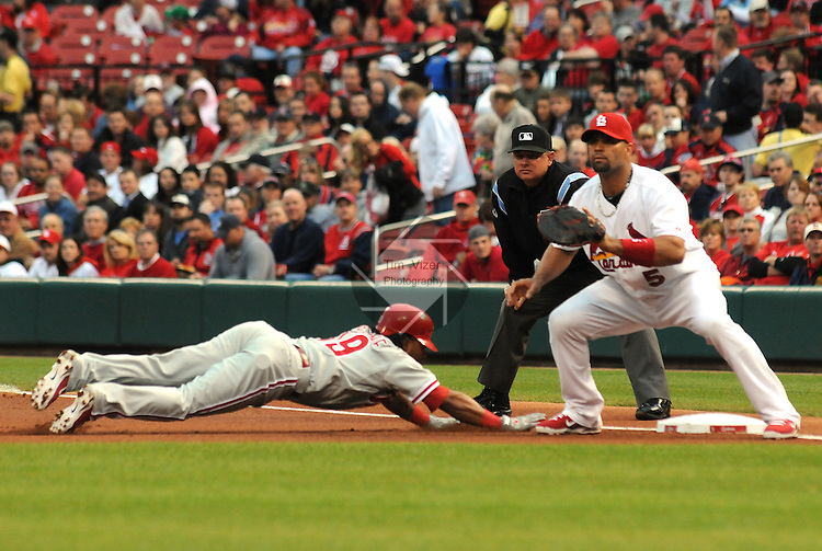 17 May 2011                              The St. Louis Cardinals defeated the Philadelphia Phillies 2-1 on Tuesday May 17, 2011 in the second game of a two-game series at Busch Stadium in downtown St. Louis.