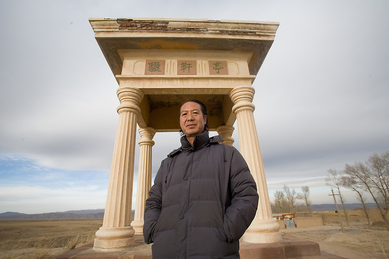 Liqian Village resident Song Guorong, who has been active in advocating the Roman ancestry of the village and has written a book about the subject. Baffled peasants in the windswept village in Gansu province are have been described as blond-haired, blue-eyed descendants of Roman mercenaries who allegedly fought the Han Chinese 2,000 years ago. ..