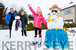 John and Tina Kinsella with their Granddaughter Amelie O'Sullivan Kinsella enjoying the snow in Holly Tree Drive,  Listowel on Friday.