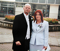 "Pictured: Leanne Davies with husband Andrew Watkins <br /> Re: A devoted mum died of suspected sepsis just hours after saying she was feeling on top of the world.<br /> Leanne Davies, 35, had been for a job interview and came home ""bouncing"" because it went so well.<br /> But her husband Andrew, 51, found her dead in bed just two hours later.<br /> Trained first-aider Andrew frantically gave her CPR until an ambulance arrived but she couldn't be saved.<br /> The death of the tragic mother-of-two is being linked to sepsis and she had been diagnosed with the killer illness five weeks earlier.<br /> Leanne became ill after bumping her arm on a dishwasher at the old people's home where she worked.<br /> The joint became red and swollen and she was given antibiotics for sepsis after being referred to hospital for specialist treatment.<br /> It improved but Leanne went back for another course of the tablets just four days before she died."