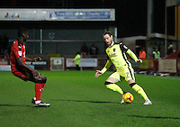 Exeter City's Ryan Harley in action during the Sky Bet League 2 match between Crawley Town and Exeter City at Broadfield Stadium, Crawley, England on 28 February 2017. Photo by Carlton Myrie / PRiME Media Images.