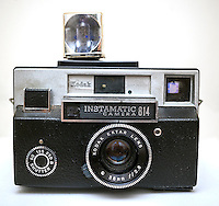A vintage Eastman Kodak Co. Instamatic 814 camera manufactured between 1968 and 1970 is seen in New York. A federal judge approved Kodak's emergence from bankruptcy on Tuesday, August 20, 2013 and the company will manufacture commercial printing material, cinema stock and touch screen technology. The film, camera and printer businesses have either been closed or sold.  (© Richard B. Levine)
