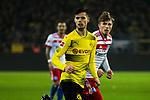 10.02.2018, Signal Iduna Park, Dortmund, GER, 1.FBL, Borussia Dortmund vs Hamburger SV, <br /> <br /> im Bild | picture shows:<br /> Jann-Fiete Arp (Hamburger SV #40) mit Julian Weigl (Borussia Dortmund #33), <br /> <br /> <br /> Foto &copy; nordphoto / Rauch