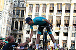 Luis Leon Sanchez (ESP) Astana Pro Team at the team presentation held on the Grand-Place before the 2019 Tour de France starting in Brussels, Belgium. 4th July 2019<br /> Picture: Colin Flockton | Cyclefile<br /> All photos usage must carry mandatory copyright credit (© Cyclefile | Colin Flockton)