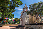 The Church of San Jeronimo Tlacochahuaya was begun in the late 1500's and completed in 1735.  San Jeronimo Tlacochahuaya, Mexico.