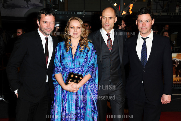 "James Purefoy, Samantha Morton, Mark Strong and Dominic West at the ""John Carter"" premiere at the BFI South Bank, London. 02/03/2012 Picture by: Steve Vas / Featureflash"