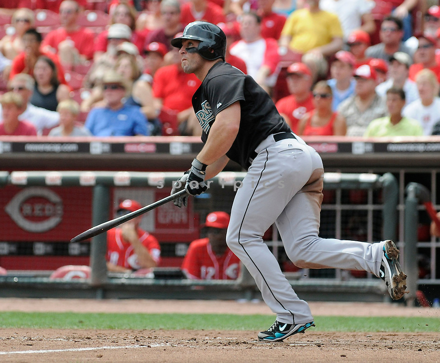 DAN UGGLA, of  the Florida Marlins, in action during the Marlins game against the Cincinnati Reds at Great American Ball Park in Cincinnati, Ohio  on August 15, 2010.   Reds won the game 2-0...