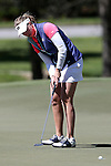 15 April 2016: Notre Dame's Talia Campbell. The First Round of the Atlantic Coast Conference's Womens Golf Tournament was held at Sedgefield Country Club in Greensboro, North Carolina.