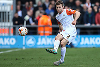 Stephen O'Donnell of Luton Town during the Sky Bet League 2 match between Barnet and Luton Town at The Hive, London, England on 28 March 2016. Photo by David Horn.