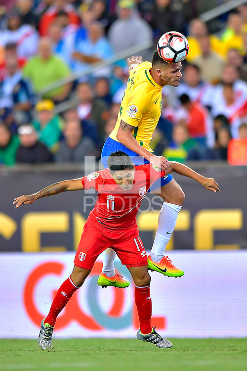 Photo during the match Brasil vs Peru, Corresponding to  Group -B- of the America Cup Centenary 2016 at Gillette Stadium.<br /> <br /> Foto durante al partido Brasil vs Peru, Correspondiente al Grupo -B- de la Copa America Centenario 2016 en el Estadio Gillette en la foto: Raul Ruidiaz<br /> <br /> <br /> 12/06/2016/MEXSPORT/ISAAC ORTIZ