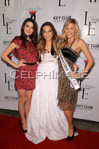 KIERSTEN BRADA-PITTS, LAUREN ELAINE, EMMA BAKER. Arrivals to the LA Rocks Fashion Show, featuring the Lauren Elaine Fall 2010 Collection Debut at the Key Club. West Hollywood, CA, USA. March 22, 2010.