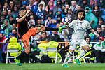 Munir El Haddadi Mohamed (l) of Valencia CF fights for the ball with Marcelo Vieira Da Silva of Real Madrid during their La Liga match between Real Madrid and Valencia CF at the Santiago Bernabeu Stadium on 29 April 2017 in Madrid, Spain. Photo by Diego Gonzalez Souto / Power Sport Images