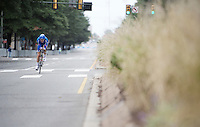 Nicol Conci (ITA) on Broad Street<br /> <br /> Junior Men TT<br /> UCI Road World Championships / Richmond 2015