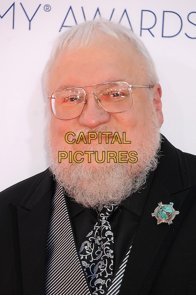 George R. R. Martin.The 64th Anual Primetime Emmy Awards - Arrivals, held at Nokia Theatre L.A. Live in Los Angeles, California, USA..September 23rd, 2012.emmys headshot portrait black white beard facial hair glasses rr.CAP/ADM/BP.©Byron Purvis/AdMedia/Capital Pictures.
