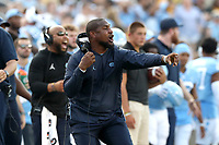 CHAPEL HILL, NC - SEPTEMBER 21: Cornerbacks coach Dre Bly of the University of North Carolina during a game between Appalachian State University and University of North Carolina at Kenan Memorial Stadium on September 21, 2019 in Chapel Hill, North Carolina.