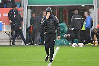 Bundestrainer Joachim Loew (Deutschland Germany) im Regen von Belfast - 04.10.2017: Deutschland Abschlusstraining, Windsor Park Belfast