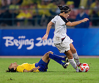 Marta, Carli Lloyd. The USWNT defeated Brazil, 1-0, to win the gold medal during the 2008 Beijing Olympics at Workers' Stadium in Beijing, China.