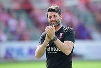 Lincoln City manager Danny Cowley during the pre-match warm-up<br /> <br /> Photographer Chris Vaughan/CameraSport<br /> <br /> The EFL Sky Bet League Two - Lincoln City v Tranmere Rovers - Monday 22nd April 2019 - Sincil Bank - Lincoln<br /> <br /> World Copyright © 2019 CameraSport. All rights reserved. 43 Linden Ave. Countesthorpe. Leicester. England. LE8 5PG - Tel: +44 (0) 116 277 4147 - admin@camerasport.com - www.camerasport.com