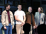 "Michael Cera, Lucas Hedges, David Cromer and Joan Allen during the Opening Night Curtain Call bows for ""The Waverly Gallery"" at the Golden Theatre on October 25, 2018 in New York City."