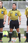 30 August 2015: Referee Vito Testa. The Duke University Blue Devils hosted the DePaul University Blue Demons at Koskinen Stadium in Durham, NC in a 2015 NCAA Division I Men's Soccer match.
