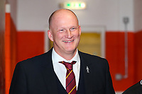 Bradford City manager Simon Grayson during the Sky Bet League 1 match between Blackpool and Bradford City at Bloomfield Road, Blackpool, England on 7 April 2018. Photo by Thomas Gadd.