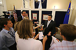 Nevada Gov. Brian Sandoval answes media questions following a special Legislative session in Carson City, Nev., on Tuesday, June 4, 2013. <br /> Photo by Cathleen Allison