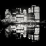 Canary Wharf, Docklands, london, UK at night