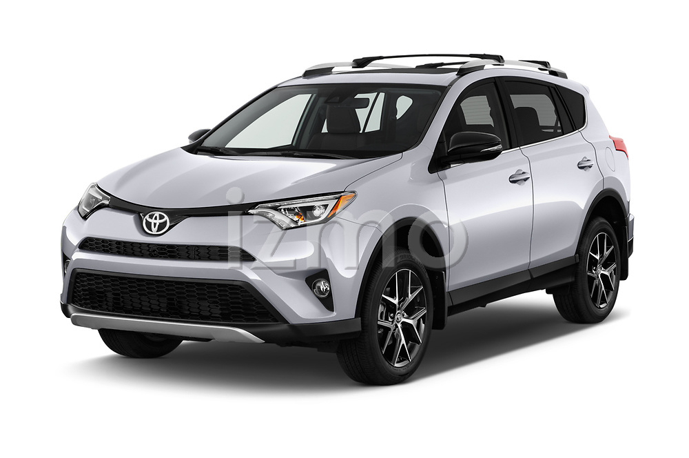 2018 Toyota RAV4 SE 5 Door SUV Angular Front stock photos of front three quarter view