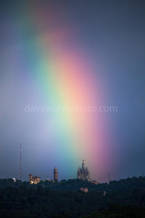 Rainbow over the Basilica at Tibidabo, Barcelona