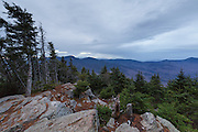 November 2016 - View from the summit of Mount Tecumseh in Waterville Valley, New Hampshire on a cloudy November day. Unauthorized tree cutting has improved this viewpoint.