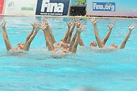 RIO DE JANEIRO, RJ, 05.03.2016 - OLIMPÍADAS-TESTE - A equipe brasileira de nado sincronizado se apresenta durante evento-teste para as Olimpíadas Rio 2016, no Parque Aquático Maria Lenk, na manhã deste sábado, 05 (Foto: Adriana Spaca/Brazil Photo Press)