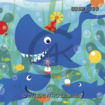 Sarah, CHILDREN BOOKS, BIRTHDAY, GEBURTSTAG, CUMPLEAÑOS, paintings+++++BdaySharks-14-A,USSB399,#BI#, EVERYDAY