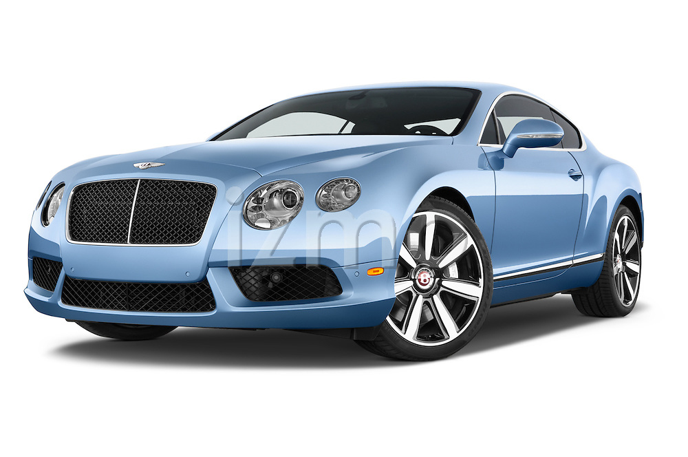 Stock pictures of low aggressive front three quarter view of a 2014 Bentley Continental GT V8 Coupe 2 Door Coupe Low Aggressive