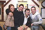 Rosie, Thady and Cameron Lynch with Cian Murray in the 19th Bar in Baltray...Photo NEWSFILE/Jenny Matthews.(Photo credit should read Jenny Matthews/NEWSFILE)....This Picture has been sent you under the condtions enclosed by:.Newsfile Ltd..The Studio,.Millmount Abbey,.Drogheda,.Co Meath..Ireland..Tel: +353(0)41-9871240.Fax: +353(0)41-9871260.GSM: +353(0)86-2500958.email: pictures@newsfile.ie.www.newsfile.ie.FTP: 193.120.102.198.