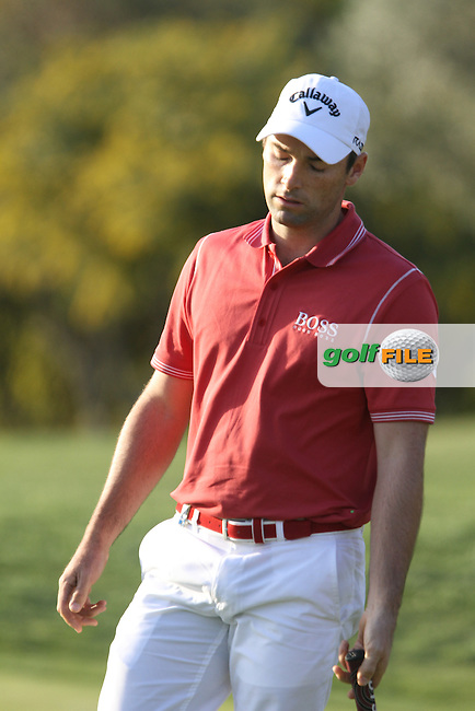 Oliver Wilson (ENG) finishes on the 18th on Day 1 of the 2012 Open de Andalucia Costa del Sol at Aloha Golf Club, Marbella, Spain...(Photo Jenny Matthews/www.golffile.ie)